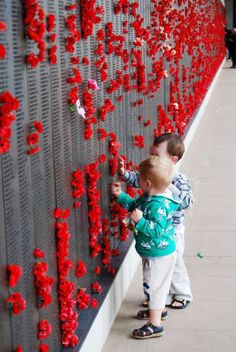The Australian War Memorial - Canberra, the red poppies are tributes to the fallen. Australian Capital Territory, Anzac Day, Lest We Forget, Vietnam Veterans, Australia Travel, Little People, New Zealand, Acting, War Memorials