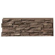 Urestone 24 in. x 48 in. Ledgestone Almond Taupe Stone Veneer Panel - - The Home Depot Stone Siding Panels, Faux Stone Siding, Stone Veneer Panels, Stacked Stone Panels, Faux Stone Panels, Faux Stone Veneer, Brick Projects, Brick Paneling, Decorative Wall Panels