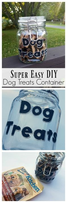 Check out this super easy DIY dogs treats container tutorial using Milo's Kitchen home-style dog treats from Meijer  #miloskitchen #Pmedia #ad