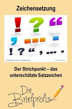 Der Strichpunkt – das unterschätzte Satzzeichen Bar Chart, Dependent Clause, Semicolon, Punctuation, Simple Sentences, Authors, Dots, Bar Graphs