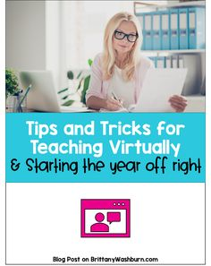 Teaching virtually might make you feel like a first year teacher all over again. My goal with putting this blog post together is to leave you feeling empowered! I want you to know that all of your teaching strategies can still be used, just in a new way. Hopefully these tips and tricks give you a place to focus your efforts and a vision of what is possible. Teaching Strategies, Teaching Tips, Learning Resources, Technology Lessons, Technology Integration, Flipped Classroom, Primary Classroom, Engage In Learning, Back To School Night