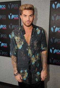Adam Lambert visits Radio Station Y100 on July 13, 2015 in Miami, Florida.Credit: Larry Marano