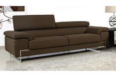 """Καναπές τριθέσιος """"ASPECT"""" υφασμάτινος σε καφέ 227x102x92 εκ. E9610,3"""