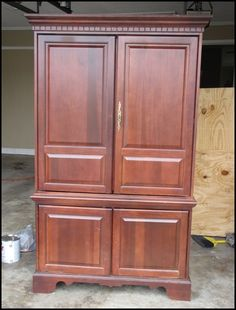 Going to Lowe's to do this to my old dresser TODAY!  I need a creative outlet and this will do me just fin.  Armoire Re-do
