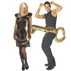 Lock and Key Halloween Costume for Couples