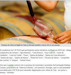 #cvrtejo #winesoftejo #vinhosdotejo CVR TEJO Continuação - Jornal do Brasil. Fevereiro de 2016.