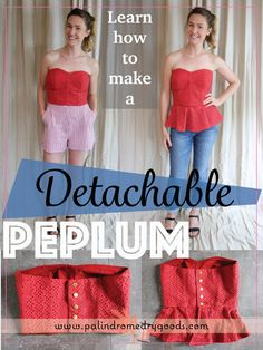 How to Make a Detachable Peplum