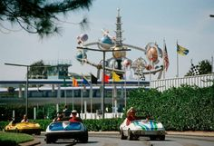 Driving on the Tomorrowland Speedway.