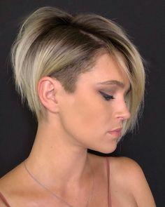 Short Sassy Haircuts, Bob Hairstyles For Thick, Haircut For Thick Hair, Haircuts With Bangs, Pixie Haircuts, Shaved Hairstyles, Modern Haircuts, Casual Hairstyles, Thin Hair