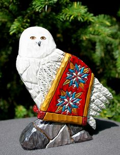Found on Bing from www.calamaycarvings.com Exotic Birds, Colorful Birds, Bird Barn, Barn Owls, Dremel Projects, Wood Projects, Flamingo Bird, Snowy Owl, Little Birds