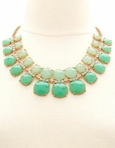 layered #ombre stone statement #necklace Get a discount: http://www.studentrate.com/itp/get-itp-student-deals/Charlotte-Russe-10percent-Student-Discount--/0