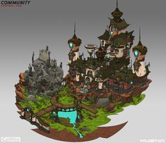 ArtStation - Community Structure, Johnson Truong