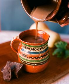 Chocolate (xocolatl) was originally developed by the Mayan people of southern Mexico, long before the Spanish conquest. This creamy hot chocolate is based on an authentic Mexican drink recipe. Contains butternut squash! Mexican Chocolate, Hot Chocolate Recipes, Chocolate Chocolate, Authentic Mexican Hot Chocolate Recipe, Authentic Mexican Desserts, Healthy Hot Chocolate, Mexican Drinks, Mexican Food Recipes, Sweets
