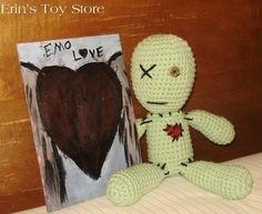 Emo Voodoo Doll amigurumi crochet pattern by Erin's Toy Store