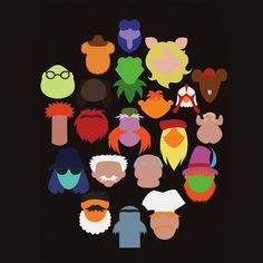 Muppet minimalism. (I don't know about anyone else, but I can't WAIT for The Muppets movie to come out!)
