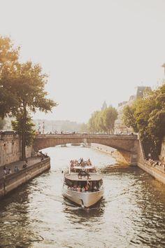 Paris tour boat on the Seine