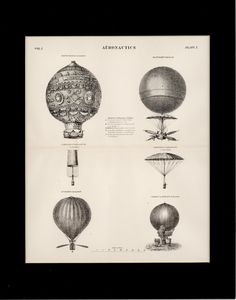 1884 Antique Scientific Print of Flying by thinaircreations, $50.00