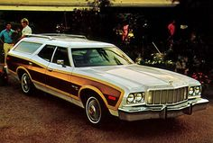 station wagon- we had one like this with the wood panels.  No seat belts were required so we could lay in the back on long trips.