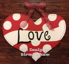 Valentines+Day+Heart+Door+Hanger+with+by+DLDesignsBirmingham,+$35.00