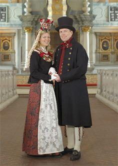 Brudepar fra Røros   anno 1780  (bridalpair)