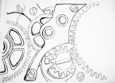 steampunk gear coloring page - Google Search   * Gears, Clocks, Keys  Silhouettes, Vectors, Clipart, Svg, Templates, Cutting Files Decals    Pinterest ...