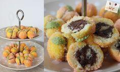 Domaće breskvice - korak po korak - jako sočne i mirisne! Peach Cookies, Kolaci I Torte, Sushi, Deserts, Muffin, Breakfast, Ethnic Recipes, Slovenia, Brownies