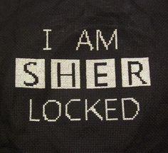 Sherlock cross stitch