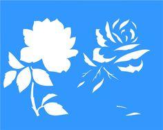 African Artesanato | Stencil                                                                                                                                                      Mais Stencil Decor, Cake Stencil, Stencil Painting, Body Painting, Stencil Patterns, Stencil Designs, Painting Patterns, Silhouette Fonts, Flower Silhouette