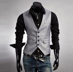 NEW! Men's Trendy Suit Vest #DiamondSupply