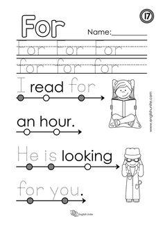 Beginning Reading 9 - It - English Unite Kindergarten Reading Activities, Phonics Reading, Preschool Learning, Literacy, Sight Word Worksheets, Reading Worksheets, Learning Sight Words, English Lessons For Kids, Beginning Reading