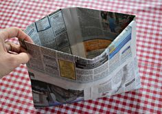 How to make a carry bag from newspaper