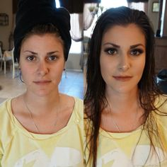 Before and after @treatyourself_makeup  Www.treatyourselfmakeup.com