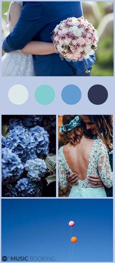 #Blue #Wedding! #Hochzeit #palette #inspiration #blau Die richtige #Musik für deine Hochzeit jetzt bei musicbooking.com finden & direkt buchen! Palette, Inspiration, Musik, Wedding, Biblical Inspiration, Pallets, Inspirational, Inhalation