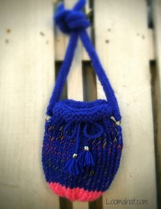 Loom Knit Purse Pattern and Video