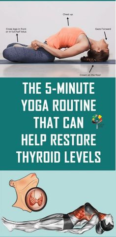 Yoga Routine That Can Help Restore Thyroid Levels Try ladies :) Yoga Routine, Routine Work, Health Routine, Asana Yoga Poses, 5 Minute Yoga, Thyroid Levels, Yoga Nature, Health And Wellness, Health Fitness