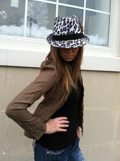 Olive Fest Jacket and Leopard Feather Fedora