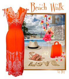 """""""Beach Walk"""" by dop37 ❤ liked on Polyvore featuring Peach Couture, Tory Burch, Abercrombie & Fitch and Jennifer Zeuner"""