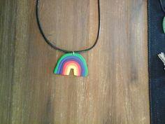 Regenbogen Kette aus Fimo