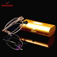 59b5722b95d   SCOBER   Design No screws welding Half-rim Reading Glasses Trigeminal  Legs Anti-fatigue Coated Lens +1 +1.5 +2 +2.5 +3 +3.
