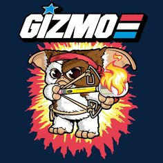 Gi Joe, Gremlins Gizmo, Day Of The Shirt, Wraps, Cartoon Characters, Screen Printing, Pop Art, Geek Stuff, Comics