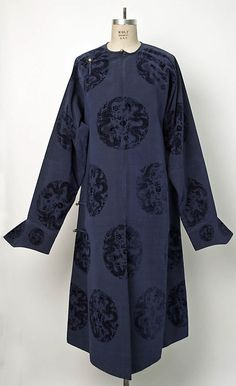 Court robe, late 19th-early 20th century, Chinese, silk & metal, Metropolitan Museum of Art