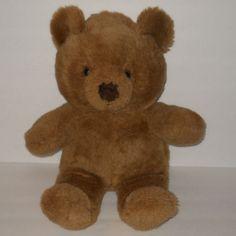 "Dan Dee Brown Teddy Bear 18"" Plush Stuffed Vintage Made Taiwan #DanDee"