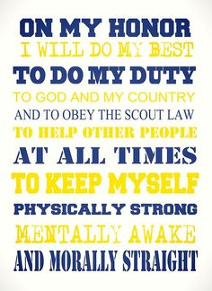 This is a photo of Nerdy Cub Scout Oath Printable
