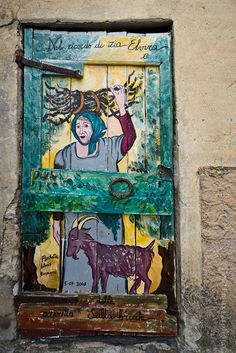 "Valloria, Italy, the Village of the Painted Doors.""   www.Pinterest.com"