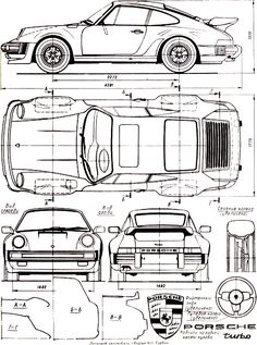 Porsche 911 (930) Turbo engineering drawings