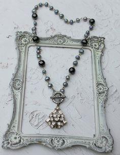 Vintage Rhinestone Pearl and Gemstone s~