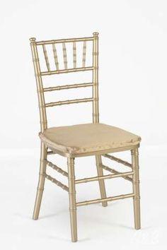 Gold Chiavari Chair with Gold Chair Pad - $12.00 each