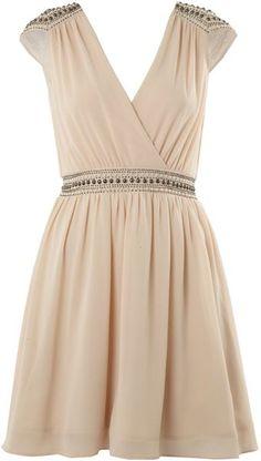 Tfnc Embellished Shoulder Cross Over Dress - Lyst