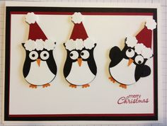 Owl punch Stampin' Up Christmas card