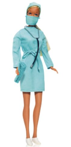 17 Barbies We're Glad Mattel Made: Surgeon (1973) - Barbie, MD. We love it—except, um, where are her pants?